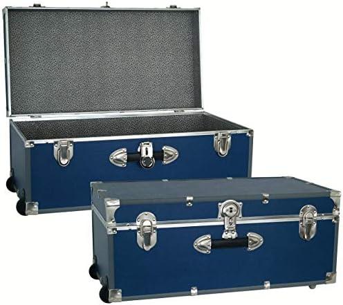 Seward Trunk 30-inch Footlocker Trunk with Wheels Blue