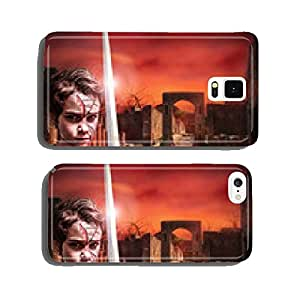 young warrior in apocalyptic landscape cell phone cover case iPhone5