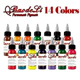 30ml Natural Plant Tattoo Pigment Permanent Makeup 1oz Bottle Tattoos Ink Pigment For