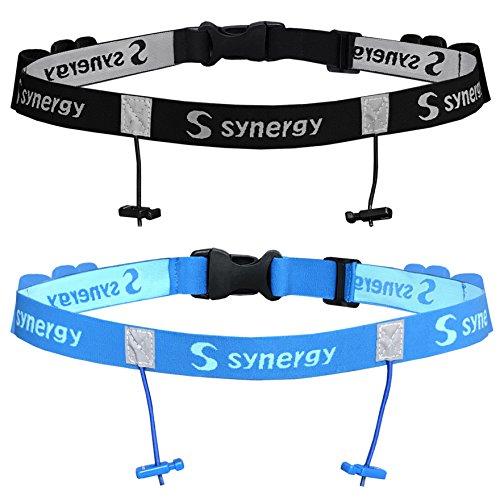 Synergy Triathlon Race Belt 2-Pack (Black/Blue 2-Pack)