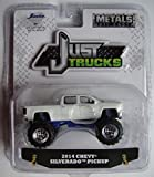 just trucks - JADA JUST TRUCKS 1:64 SCALE WHITE 2014 CHEVY SILVERADO PICKUP WAVE 13