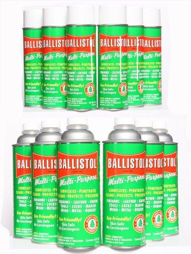 Ballistol Multi-Purpose Lubricant - MIS Kit #5 - Qty.6 of 6oz Aerosol and Qty.6 of 16oz Non-Aerosol Kit by Ballistol