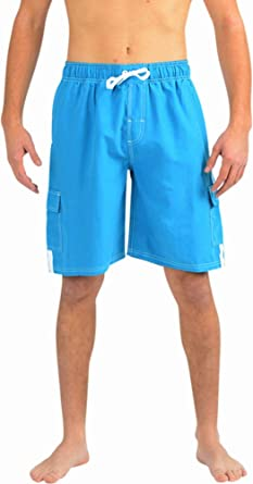 a88ba7a3f5 NORTY Mens Swim Trunks - Watershort Swimsuit - Cargo Pockets ...