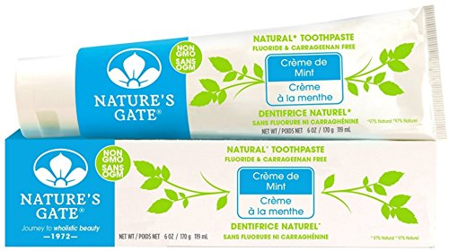 Natural Toothpaste Creme (Nature's Gate Natural Toothpaste, Creme de Mint 6 oz)