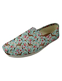 Nopersonality Funny Boston Terrier Canvas Slip on Womens Plimsoll Espadrilles Trainers Flat Pump Shoes