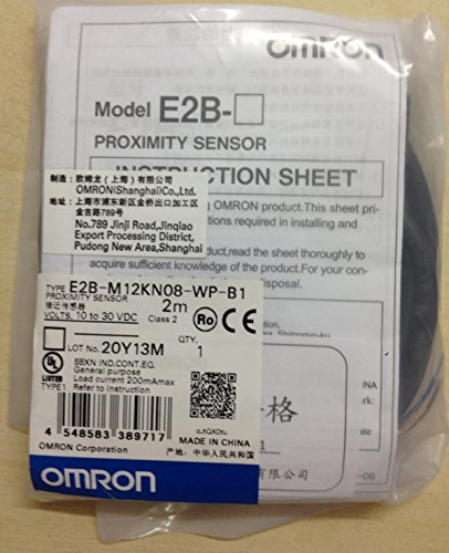 - Omron E2B-M12KN08-WP-B1 Proximity Sensor M12, unshield, sensing distance 8mm, 3 wires PNP NO