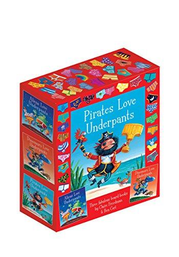 Dinosaurs Love Underpants - The Underpants Board Book slipcase: includes Aliens Love Underpants; Dinosaurs Love Underpants and Pirates Love Underpants [Hardcover] Claire Freedman, Ben Cort