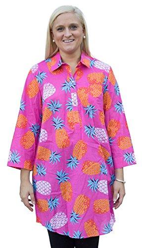 Mud Pie Kelli Shirtdress Cover-Up Pineapples