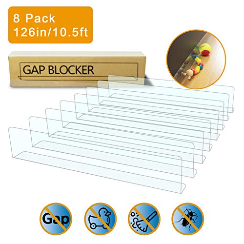 - UPSTONE 8-Pack Toy Blocker, Gap Bumper for Under Furniture, BPA Free Safe PVC with Strong Adhesive, Stop Things Going Under Sofa Couch or Bed, Easy to Install (8-Pack)
