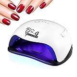 Gustala® Nail Dryer UV 54W LED Nail Curing Lamp Professional with LED Display Body Sensor for Gel Polish (white sunx5)