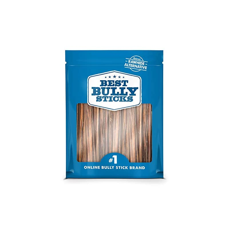 dog supplies online best bully sticks 6-inch gullet stick dog treats (25 pack) - all-natural beef dog treats - hollow, quick chew snack for all dogs - great for teething puppies, senior dogs, light chewers
