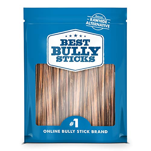 Best Bully Sticks 6-inch Gullet Stick Dog Treats (25 Pack) - All-Natural Beef Dog Treats - Hollow, Quick Chew Snack for All Dogs - Great for Teething Puppies, Senior Dogs, Light Chewers ()