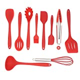 10 Piece Silicone Spatula Cooking Utensil Set