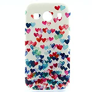 Galaxy Ace Style LTE Case,G357 TPU Case, JAHOLAN Colorful Love Clear Bumper TPU Soft Case Rubber Silicone Skin Cover for Samsung Ace Style LTE SM-G357FZ