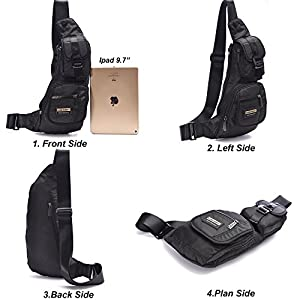 [Cyber Monday Deals ] DDDH Small Sling Bags Chest Pack One Shoulder Bag Crossbody Backpack for Travel Air Hiking Daily
