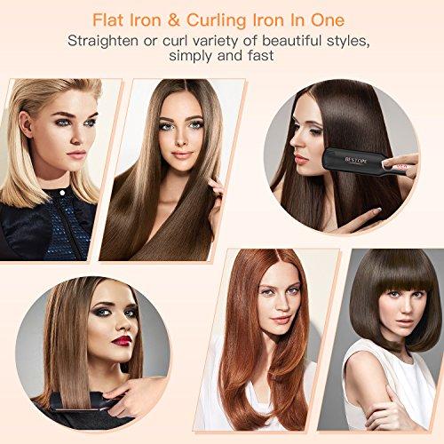 BESTOPE Hair Straightener, Ceramic Ionic Plates