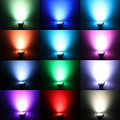 10W PAR20 E27 RGB LED Light Bulb Dimmable RGB Spotlight Bulbs 16 Colors Changing LED Mood Light Stage Lamp with Remote Control For Christmas Decoration,KTV,Patio,AC 85-265V