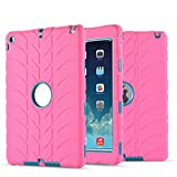 iPad Air Case - iPad 5 Case - UZER Tire Pattern Shockproof Anti-Slip Silicone High Impact Resistant Hybrid Three Layer Hard PC+Silicone Armor Protective Case Cover for iPad Air iPad 5 2013 Old Model