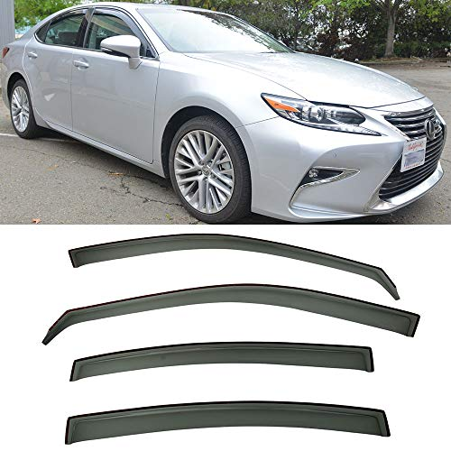 VXMOTOR for 2013-2017 Lexus ES350 Window Visors Rain Guard Deflector in-Channel V29