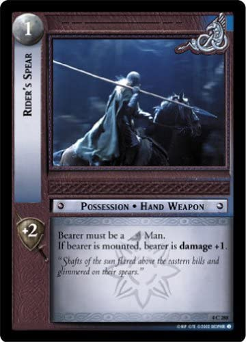 LoTR TCG TTT The Two Towers Rider/'s Spear FOIL 4C288