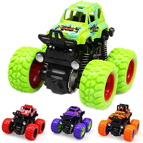 liwei18 Inertia Four-Wheel Drive Simulation Shockproof Off-Road Vehicle Toy Car Simulation Model Toy Baby Car Model Children Best Christmas Birthday Gift