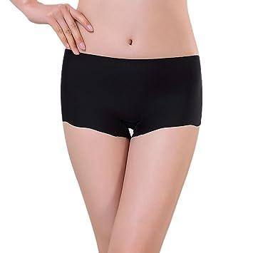 Ropa interior Baonoop Escritos de mujeres Invisible ropa interior Calzoncillos Boxer lycra sin costura entrepierna (