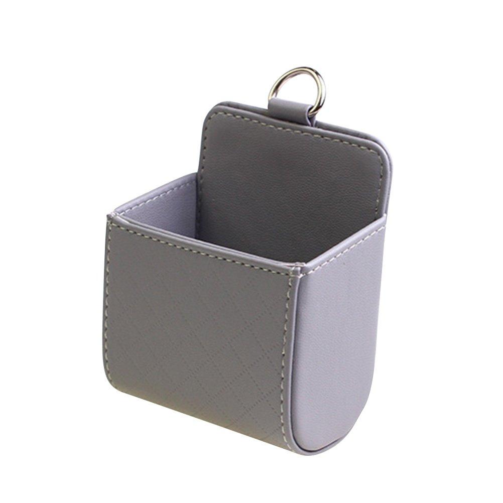 Auto Ablage Tasche Pocket Handyhalterung hängen Organizer zum Aufbewahren von Münzen und Kleinteilen (Grau) WINOMO 220926Q11DN5425