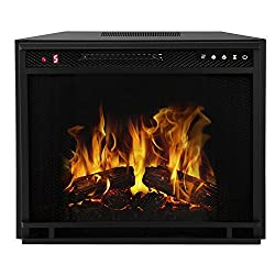 Regal Flame Flat Ventless Heater Electric Fireplace Insert Better than Wood Fireplaces, Gas Logs, Wall Mounted, Log Sets, Gas, Space Heaters, Propane, Gel, Ethanol, Tabletop Fireplaces by Regal Flame