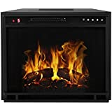 "Regal Flame 23"" Flat Ventless Heater Electric Fireplace Insert, Black Frame - 3 Color Changing Settings"