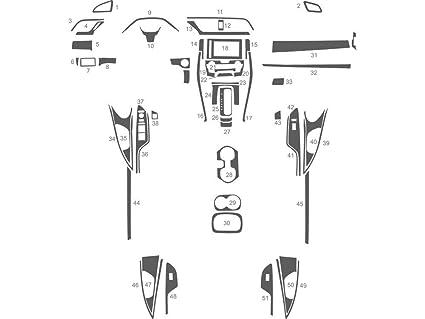 amazon benevento dash kit for honda civic 2016 2017 sedan Honda Civic Interior benevento dash kit for honda civic 2016 2017 sedan carbon fiber