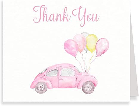 Drive By Baby Shower Editable Thank You Card Template \u2022 Printable Folded Thank You \u2022 Cards Quarantine Baby Animals \u2022 Instant Download AMD