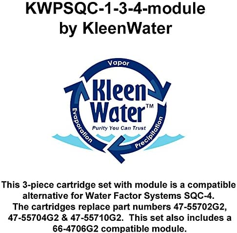 47-55702G2 47-55704G2 47-55710G2 Water Factory Compatible Filters and Membrane 4 Set KleenWater SQC4 Replacement Reverse Osmosis Water Filters and Module