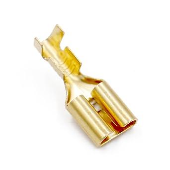 No aislada 2.8 mm Conector macho Spade terminales Conectores X 100