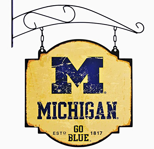 NCAA Michigan Wolverines Vintage Tavern (Michigan Wolverines School Charm)