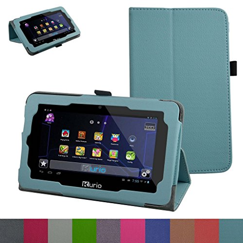 "Kurio Xtreme 2 Case,Mama Mouth PU Leather Folio 2-folding Stand Cover for 7"" 2015 Kurio Xtreme 2 Kids Tablet,Light Blue"