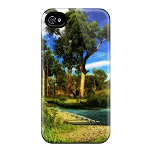 Durable Protection Case Cover For Iphone 4/4s(wonderful Corner Of Nature Hdr) by runtopwell