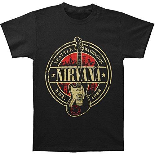 Nirvana Herren T-Shirt Schwarz Schwarz