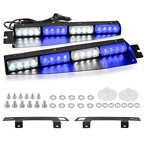 white and blue emergency lights - 3