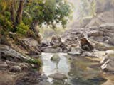 tabletops gallery umbria - Oil Painting 'Landscape: Brook In The Forest' Printing On Perfect Effect Canvas , 12x16 Inch / 30x41 Cm ,the Best Laundry Room Gallery Art And Home Artwork And Gifts Is This High Definition Art Decorative Prints On Canvas