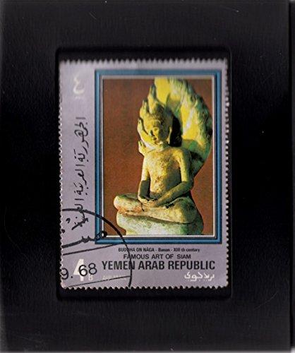 (Tchotchke Stamp Art - Collectible Postage Stamp -Buddah Seated Upon A Naga)