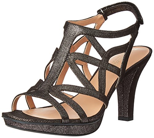 - Naturalizer Women's Danya Platform Dress Sandal, Black/Pewter, 8.5 M US