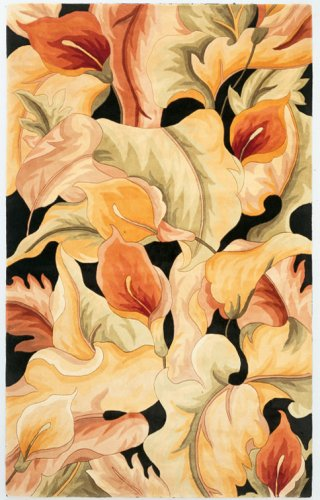 KAS Rugs 759 Catalina Calla Lilies Runner, 2-Feet 6-Inch by 8-Feet, (Floral Runners Kas Rugs)