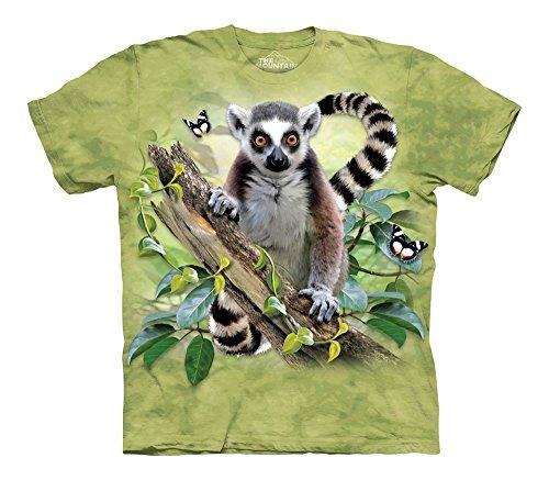 - The Mountain Kids' Lemur Butterflies T-Shirt, Green, Large