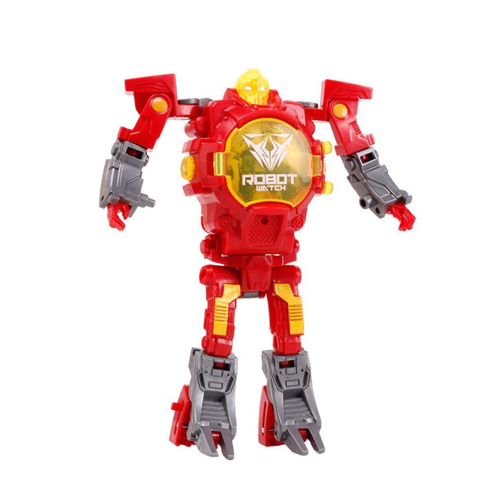 iBasteFR Transform Toys Montre créative pour Enfants Montre déformable Transformers Toys Affichage électronique Robot Montre Apprentissage électronique Cadeaux