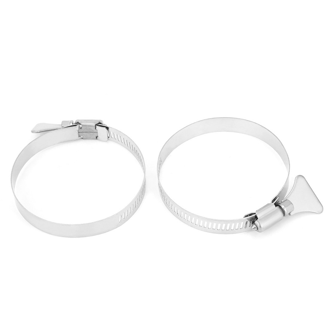 uxcell/® 6mm-12mm Clamping Range 304 Stainless Steel Butterfly Hose Clamp 10pcs