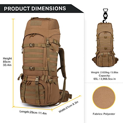 Mardingtop 65L Internal Frame Backpack Tactical Military Molle ...