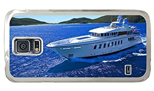 Hipster Samsung Galaxy S5 Case top covers yachting PC Transparent for Samsung S5