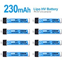 BETAFPV 8pcs 230mAh HV Lipo Battery JST 2.0 25C 4.35V with PowerWhoop Connector for Tiny Whoop