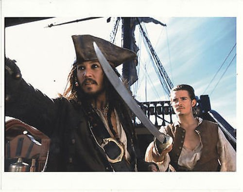 JOHNNY DEPP/ORLANDO BLOOM/PIRATES OF THE CARIBBEAN/8X10 COPY PHOTO - Orlando Caribbean Store