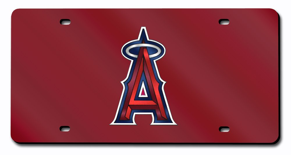 MLB Los Angeles Angels Laser-Cut Auto Tag (Red)